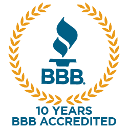 10 Years BBB Accredited