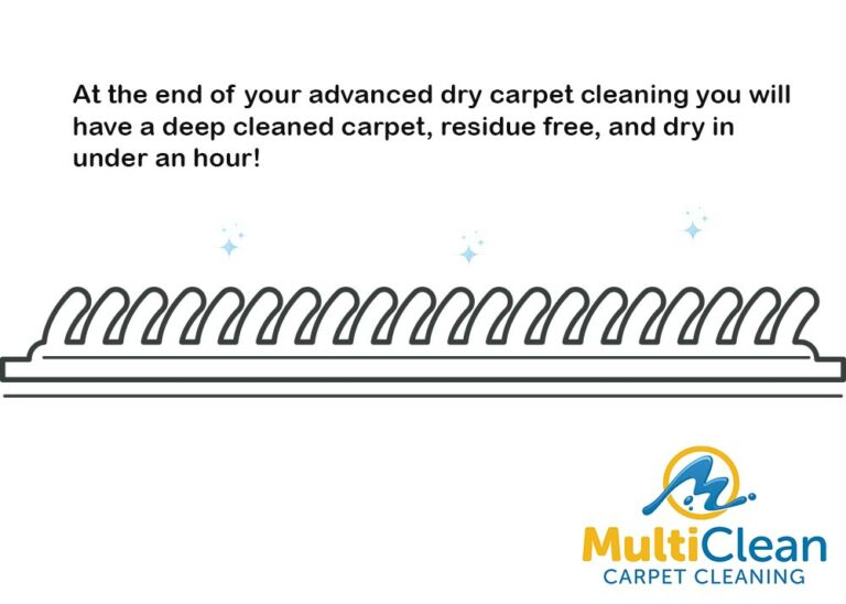 At the end of the carpet cleaning, you are left with a deep cleaned carpet.